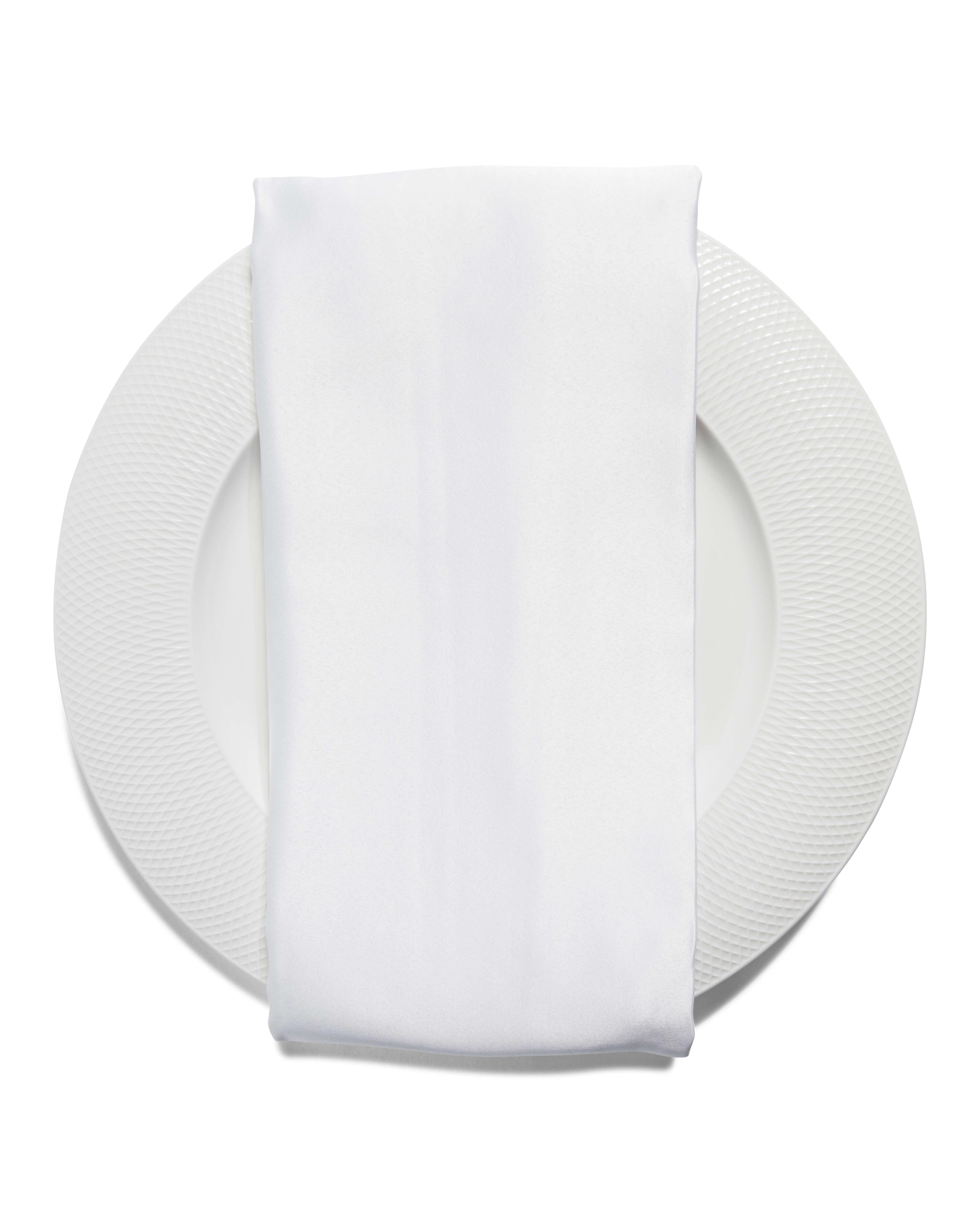 white napkin event rental