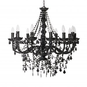 black chandelier rental