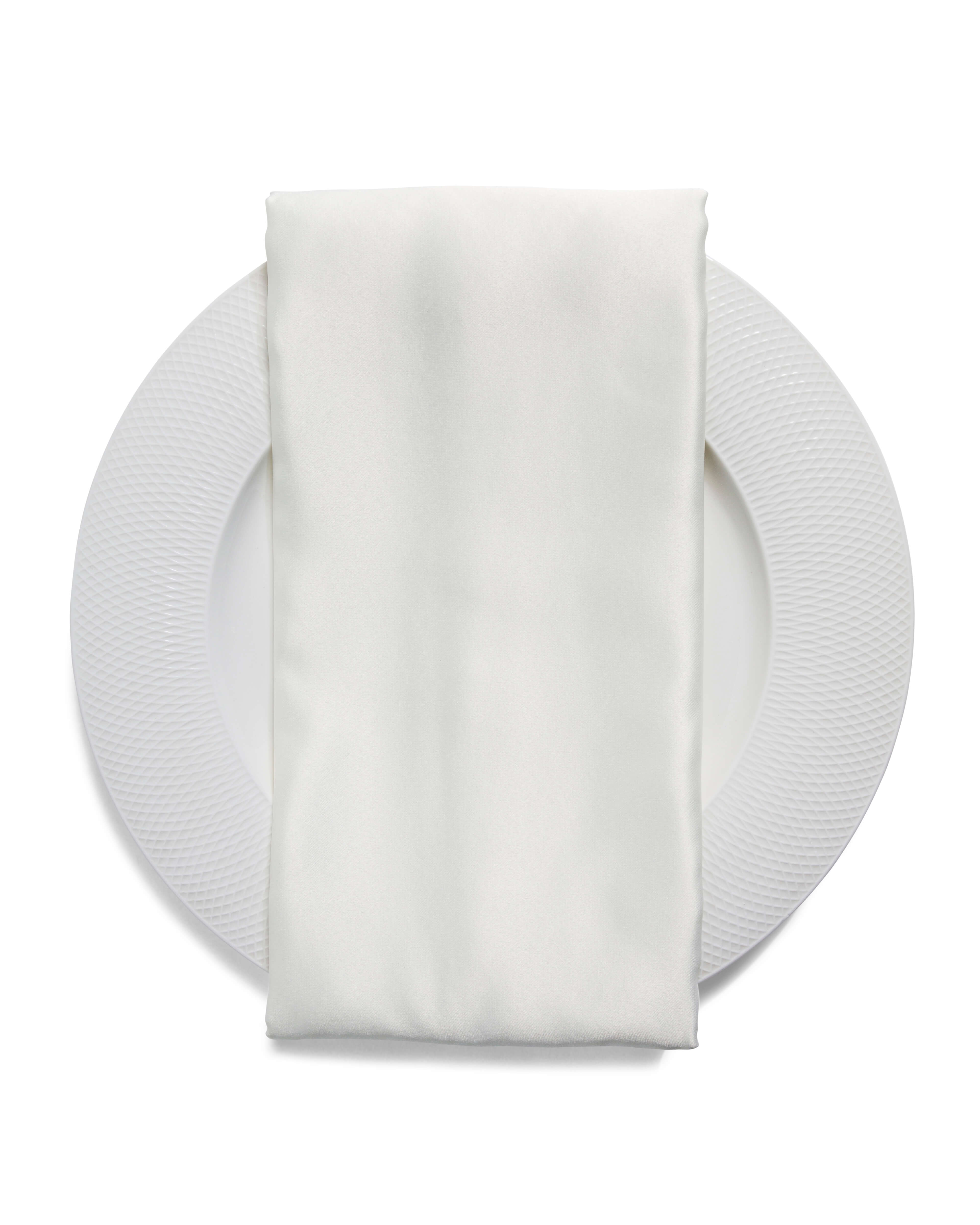 ivory satin napkin rental
