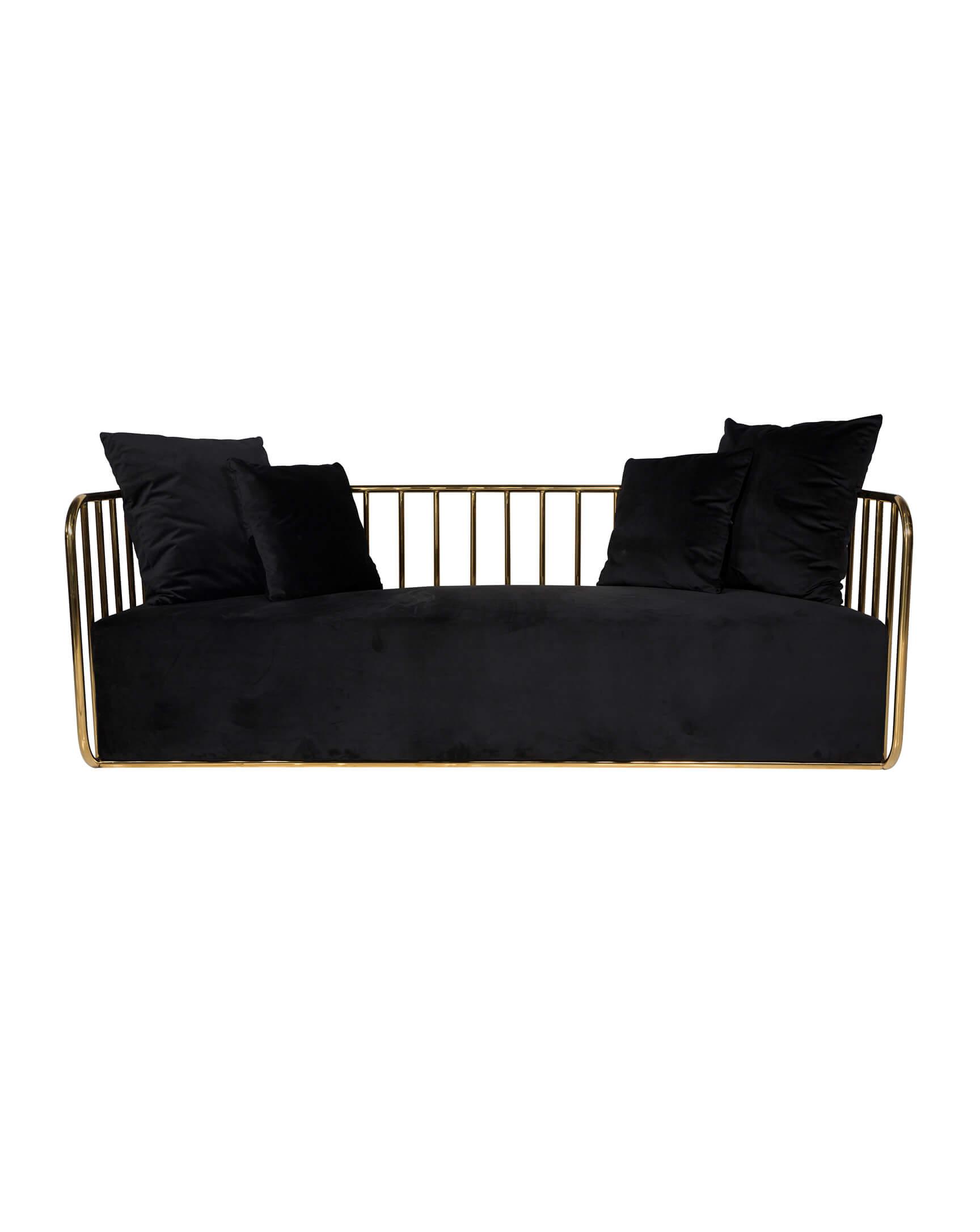 Phenomenal Black Gold Calle Ocho Sofa Carolinas Luxury Event Rentals Beatyapartments Chair Design Images Beatyapartmentscom