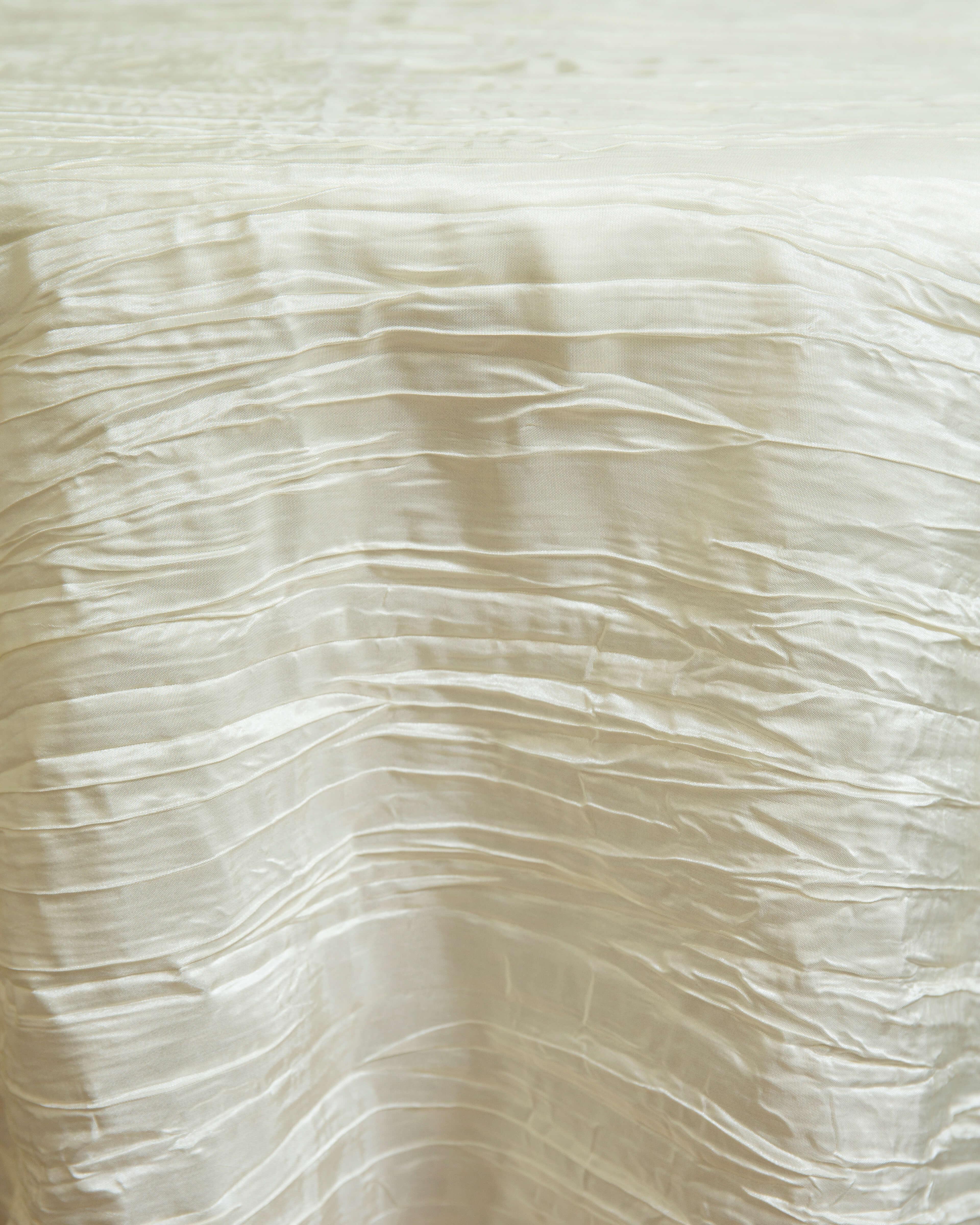 ivory crinkled taffeta linen