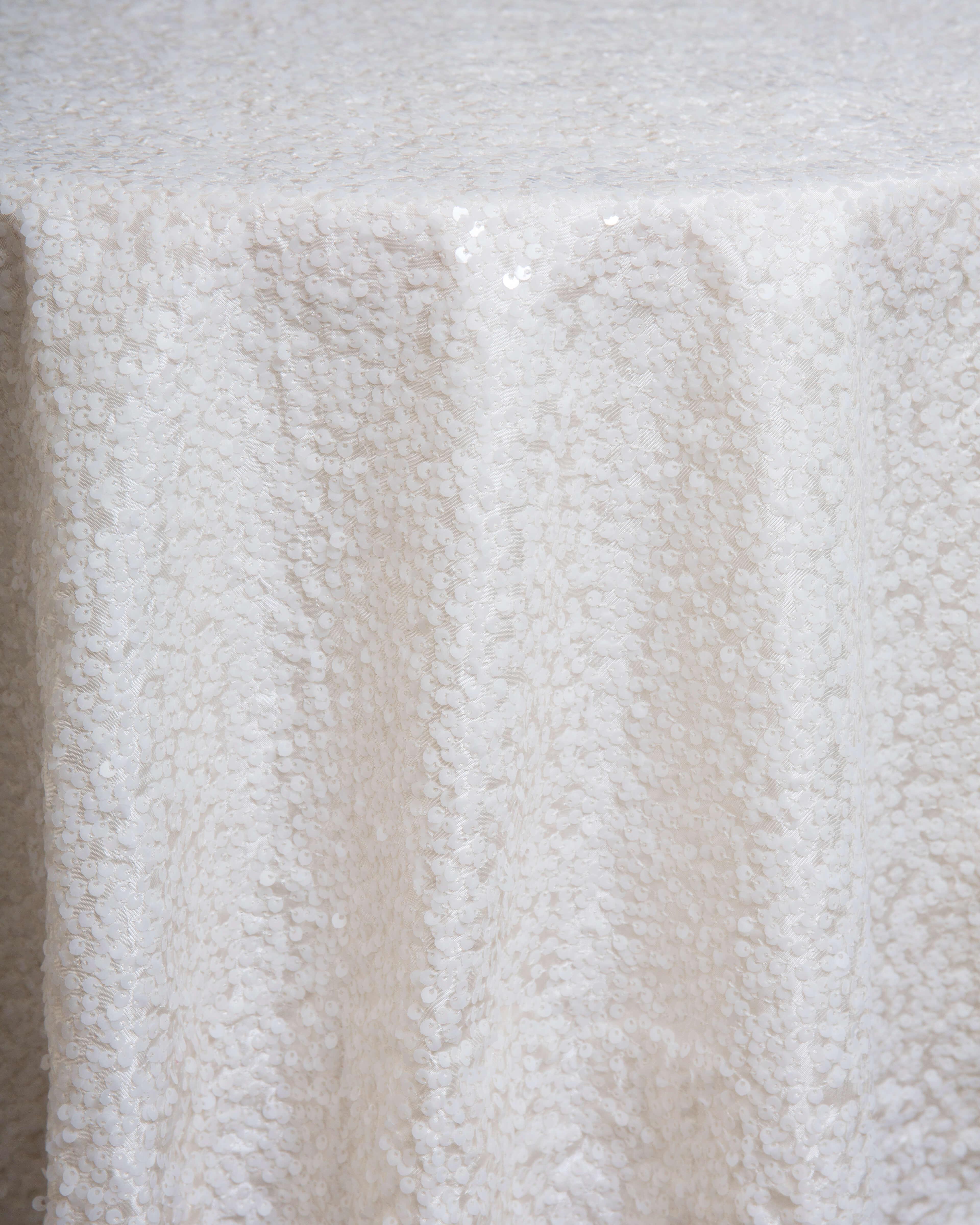 ivory sequin linen