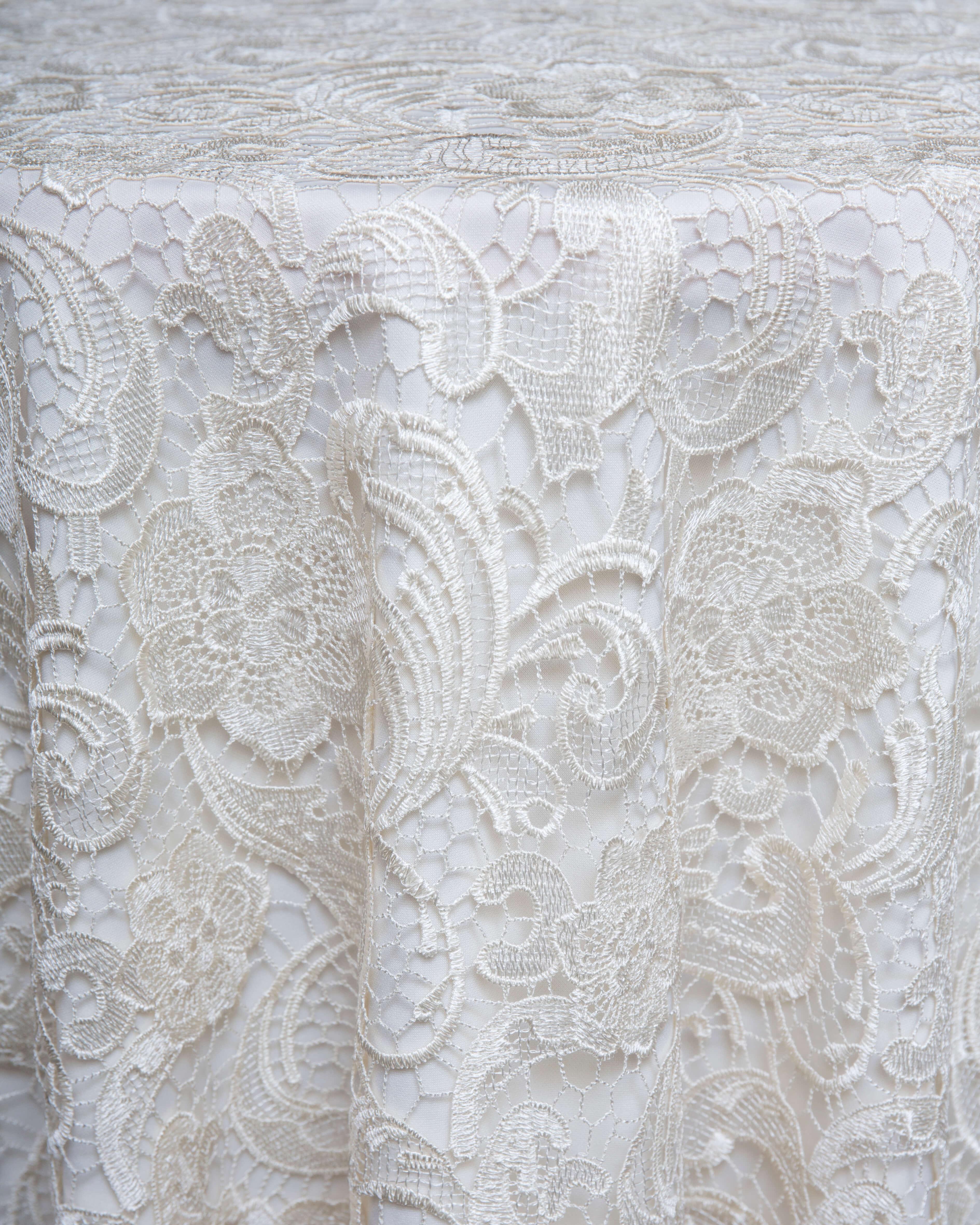 ivory lace linen