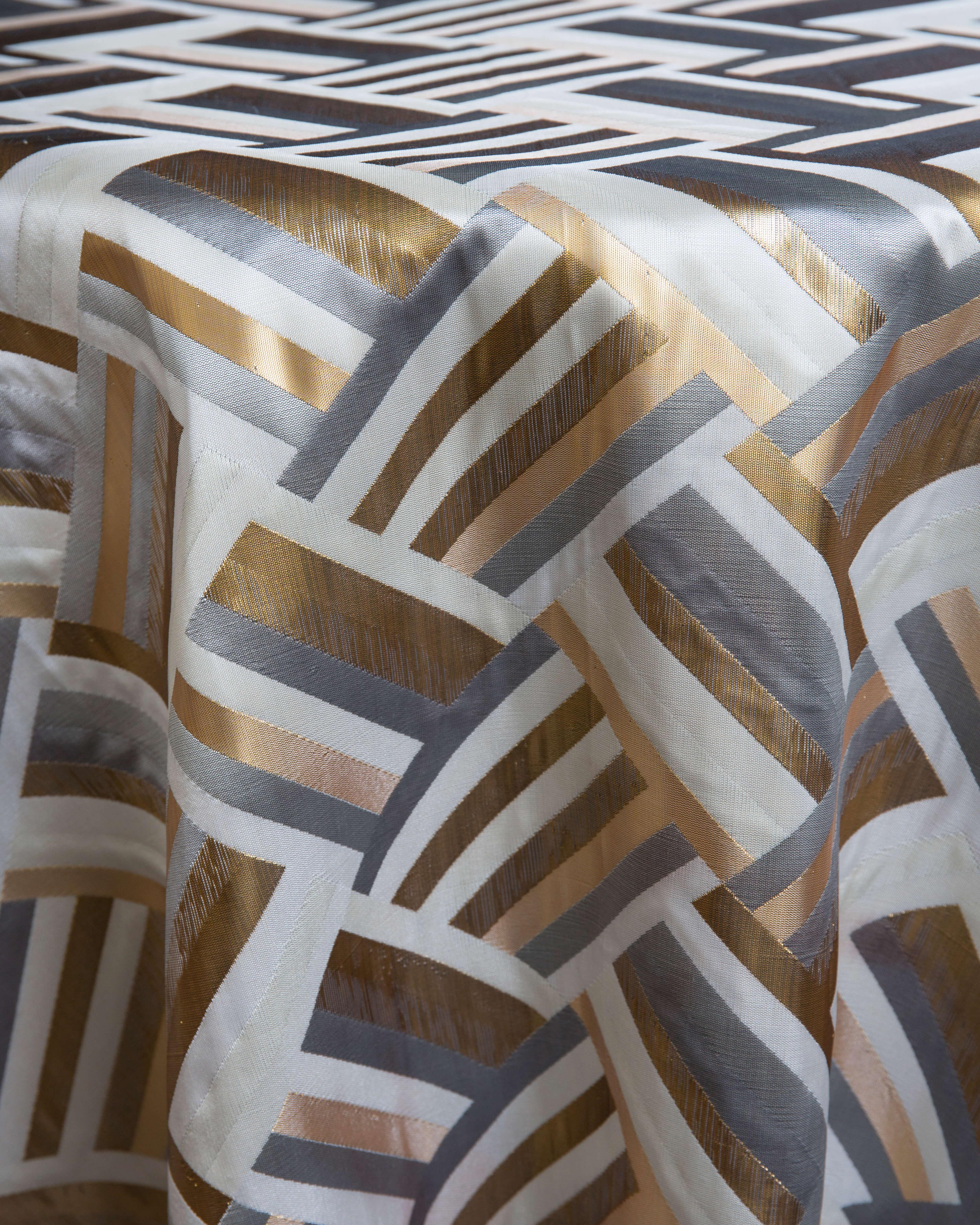 gold print linen rental