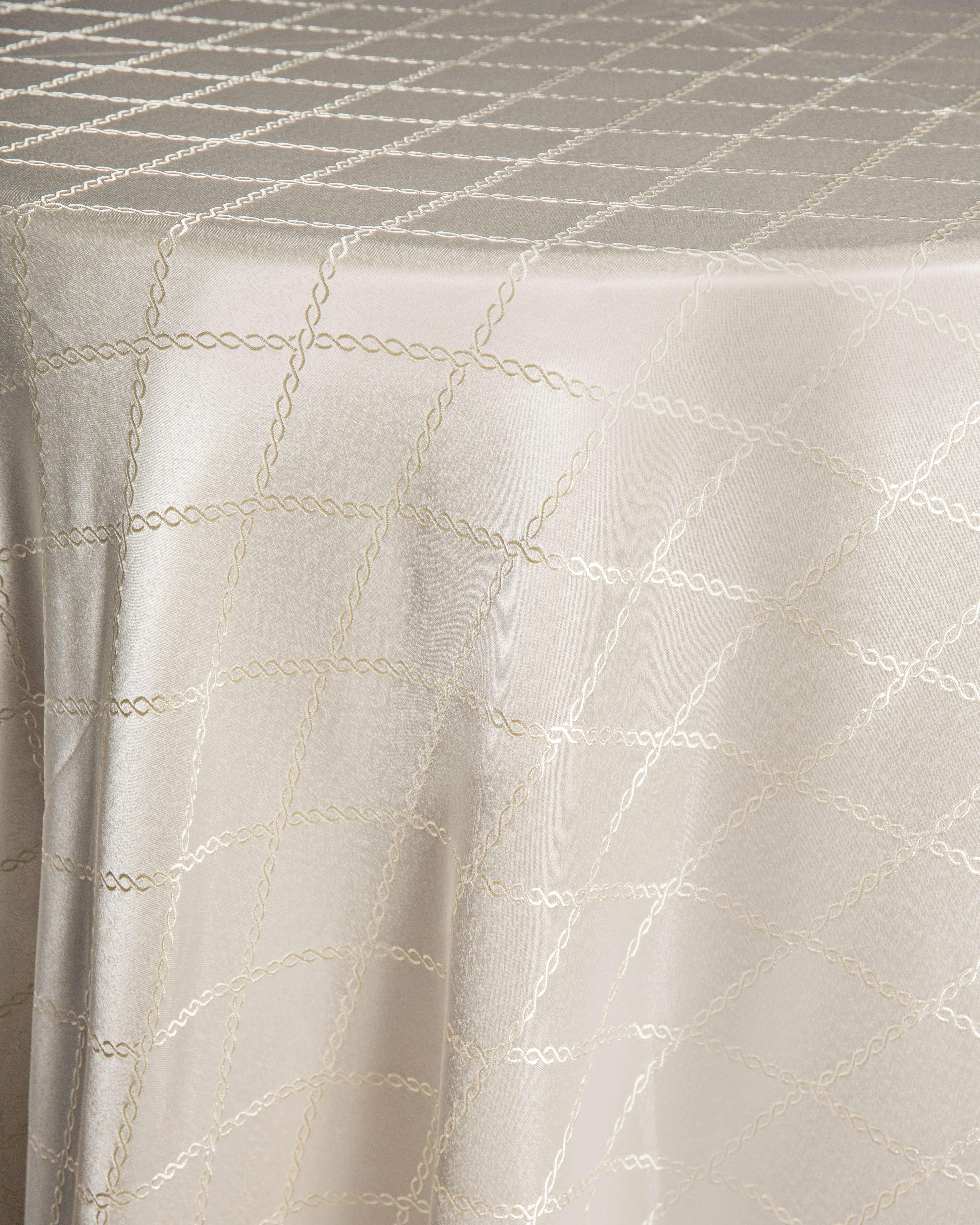 ivory print linen