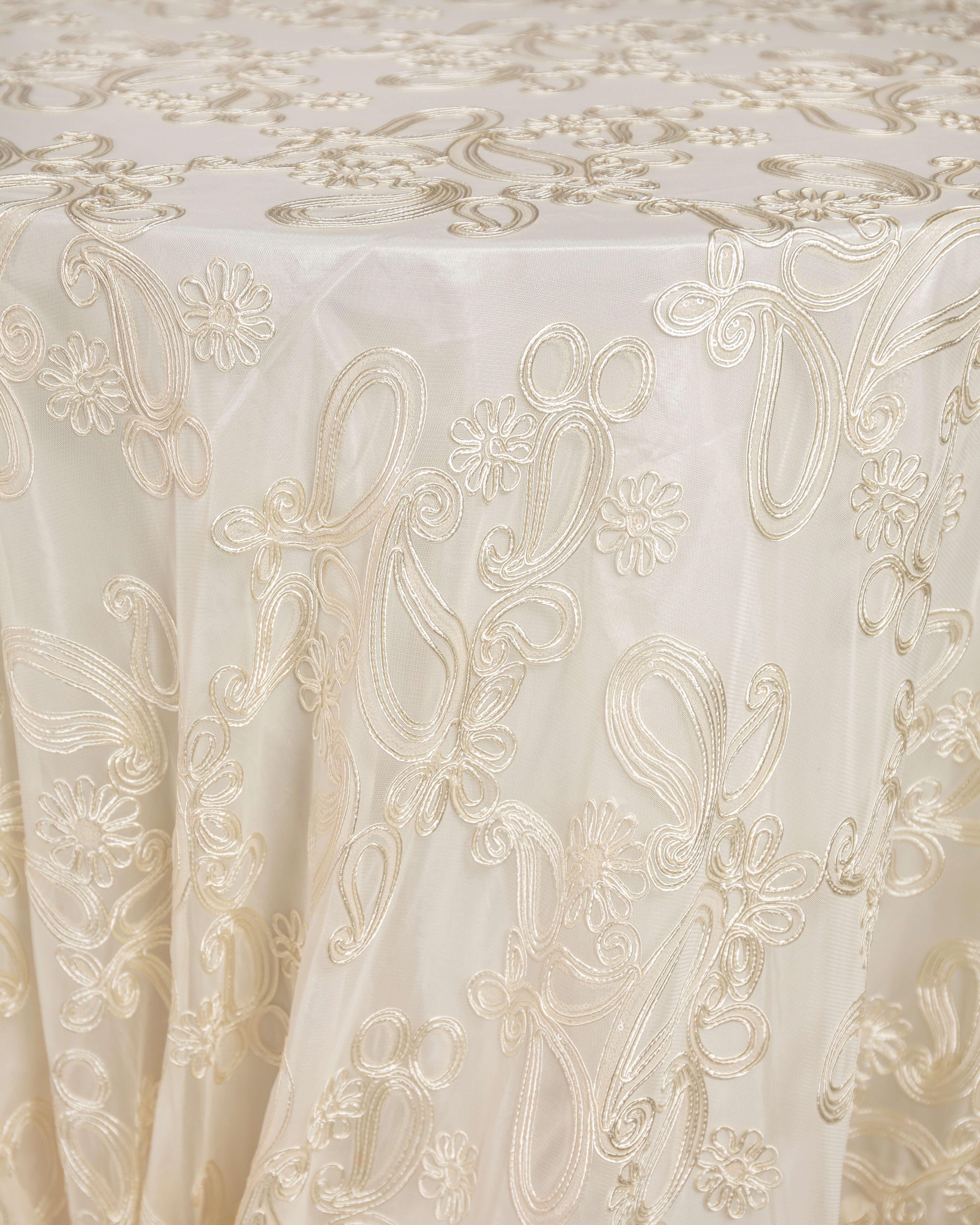 ivory overlay linen