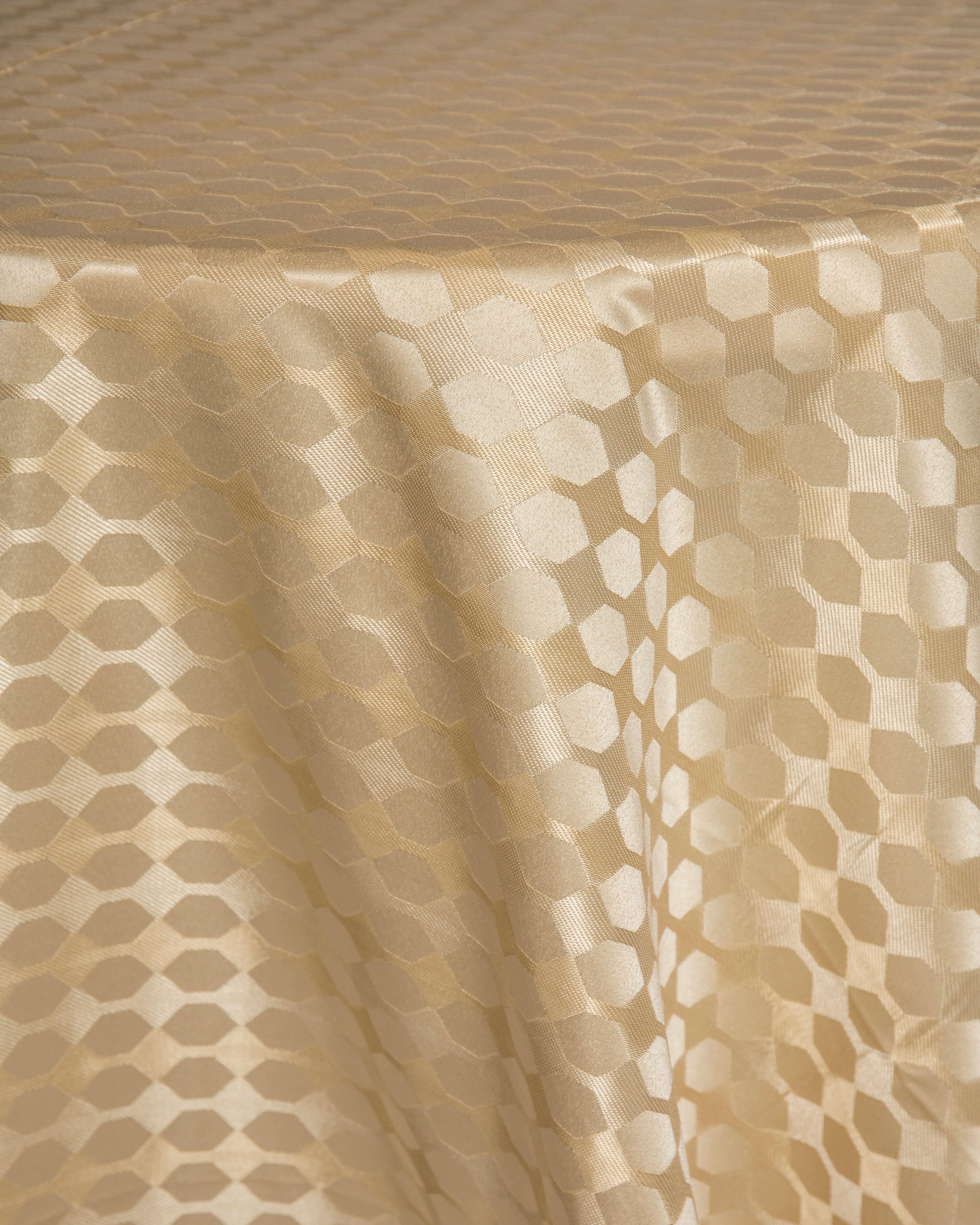 geometric satin linen